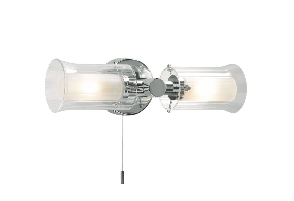 Elba 2-light Polished Chrome IP44 Wall Light ELB0950 (020168)